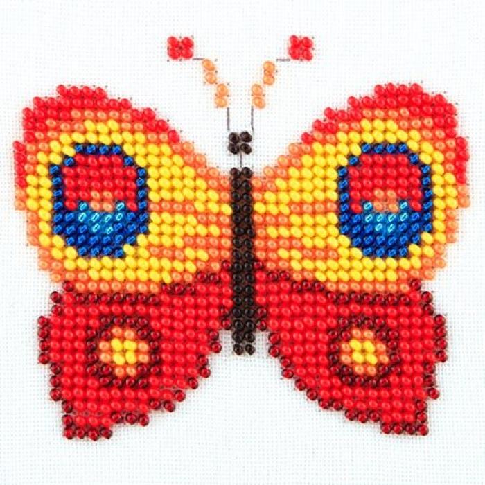 Набор для вышивания бисером LOUISE арт. L461 Бабочка 11х11 см