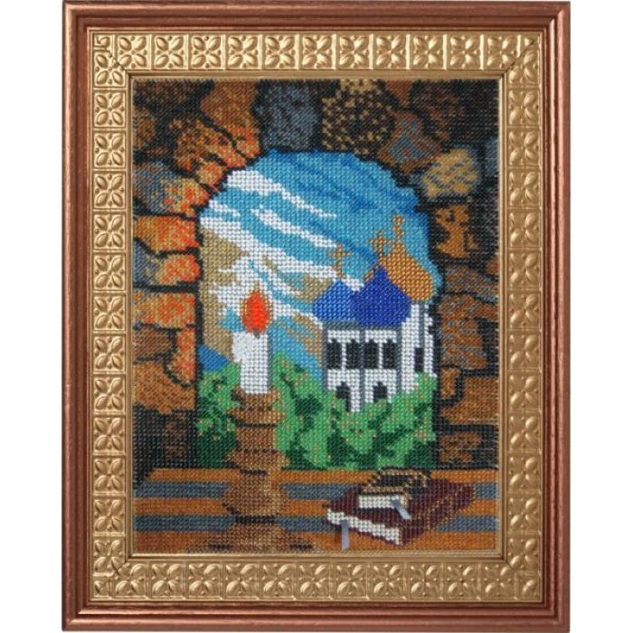 Набор для вышивания ВЫШИВАЛЬНАЯ МОЗАИКА арт. 130ГР Свеча горела на столе17,5х24,3см