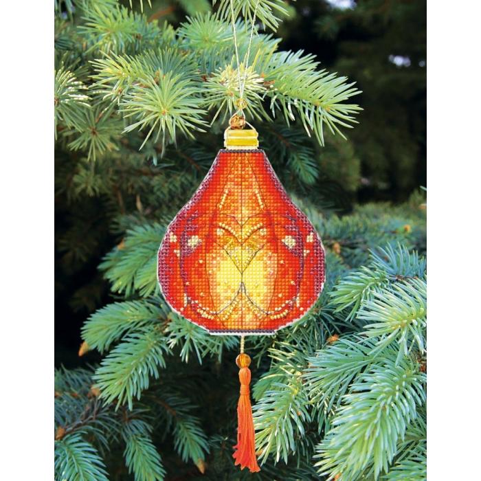 Набор для вышивания Crystal Art арт.T-22 Красочные фонарики 9х19 см