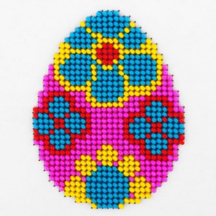 Набор для вышивания бисером LOUISE арт. L448 Пасхальное яйцо 11х11 см