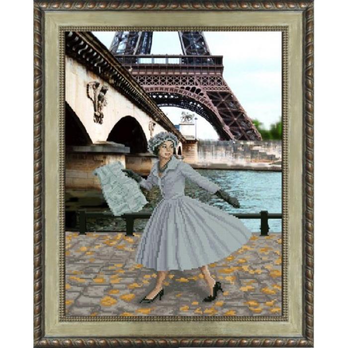 Набор для вышивания мулине КРАСА И ТВОРЧЕСТВО арт.31013 Опять в Париже листопад 30,5х40 см