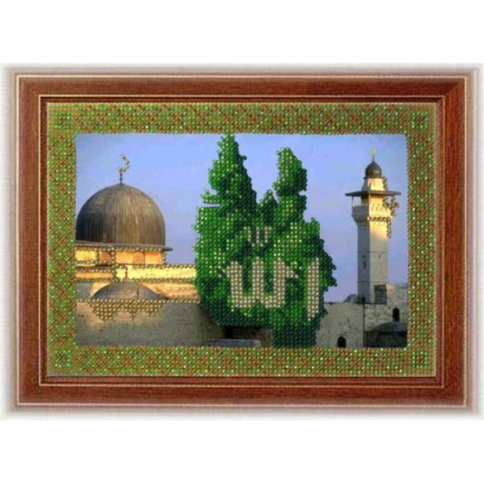 Набор для вышивания ВЫШИВАЛЬНАЯ МОЗАИКА арт. 099РВМ Мечети мира. Мечеть Аль-Акса в Иерусалиме 13,5х20 см