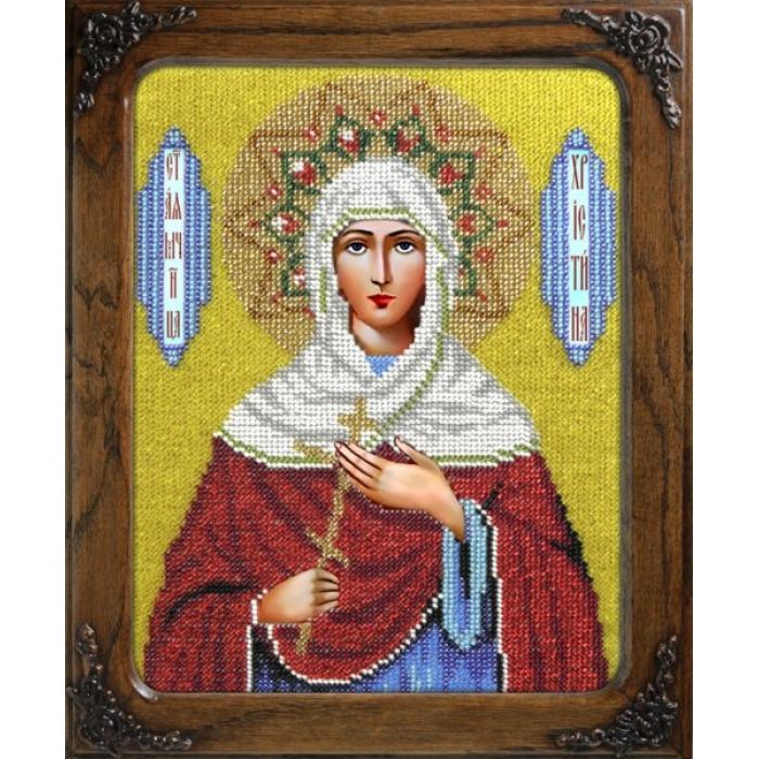 Набор для вышивания бисером ВЫШИВАЕМ БИСЕРОМ арт.L104 Святая Кристина 19х24,5 см