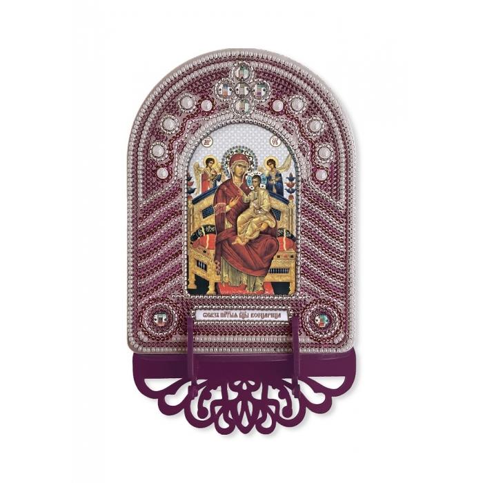 Набор для вышивания бисером НОВА СЛОБОДА арт.ВК1011 Богородица Всецарица 10х13 см
