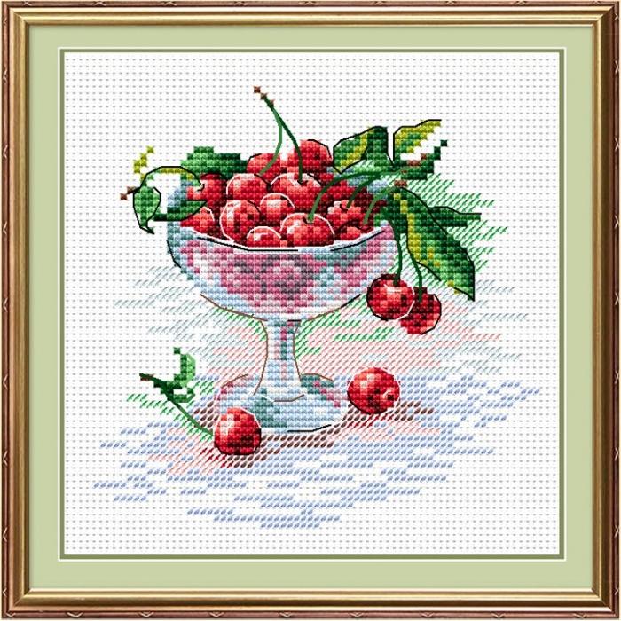 Набор для вышивания ЖАР-ПТИЦА арт.М-094 Вишневое удовольствие 15х18 см