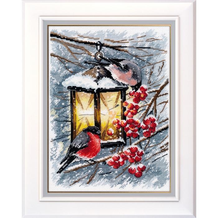 Набор для вышивания ОВЕН арт. 1024 Рождественский свет 20х28 см