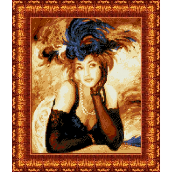 Канва с нанесенным рисунком КАРОЛИНКА арт. КК-043 Ожидание 23х30 см