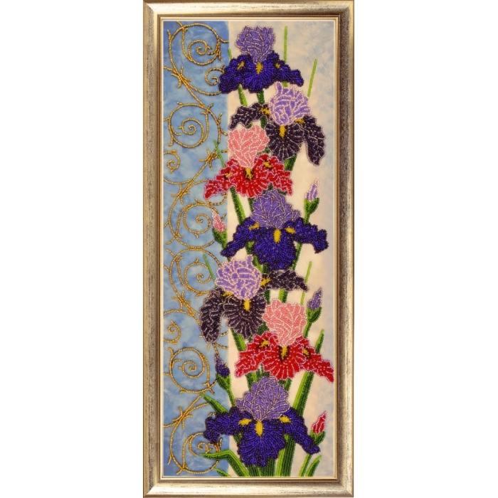 Набор для вышивания BUTTERFLY арт. 155 Панно с ирисами 49х18 см