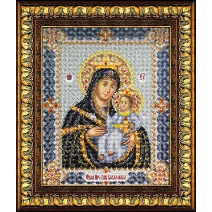 Набор для вышивания бисером ПАУТИНКА арт.Б-1017 Богородица Вифлеемская 20х25 см