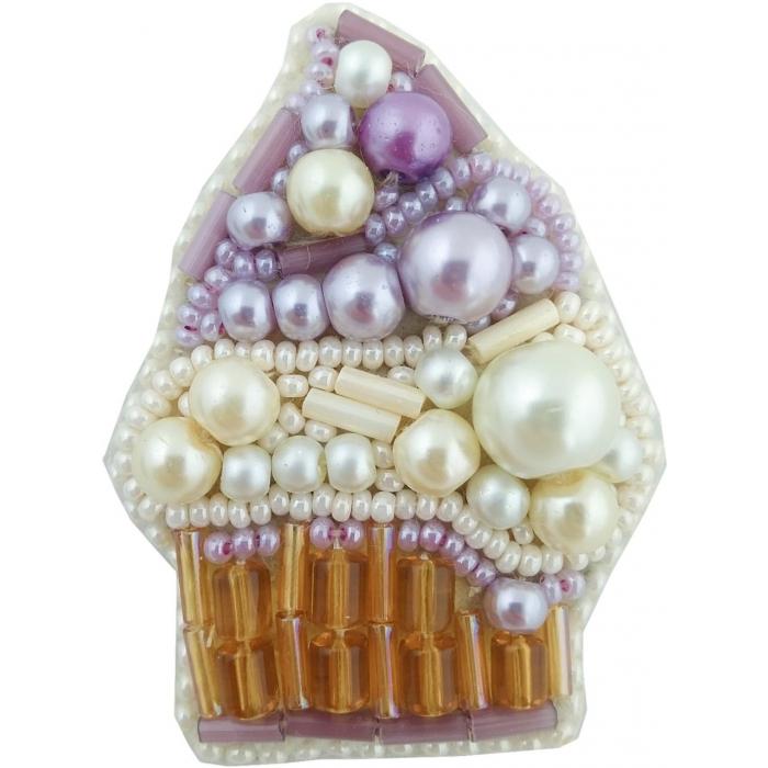 Набор для бисероплетения Crystal Art арт.БП-234 Пирожное брошь 4,5х6 см