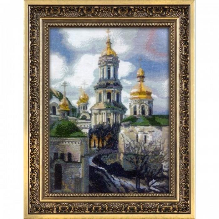 Набор для вышивания мулине НИТЕКС арт.0027 Золотая Лавра 30х42 см