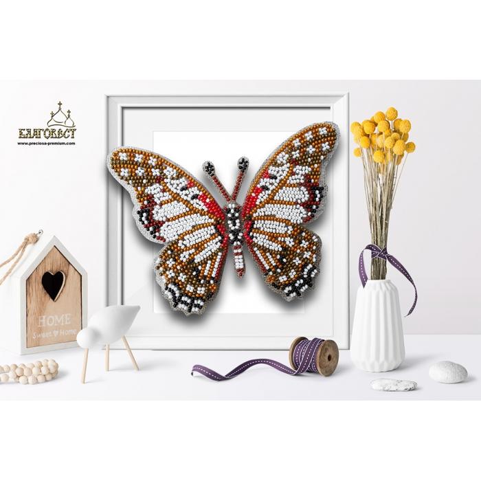 Набор для вышивки бисером 3-D БЛАГОВЕСТ арт.Б-031 Бабочка Graphium Angolanus 13,5х10 см