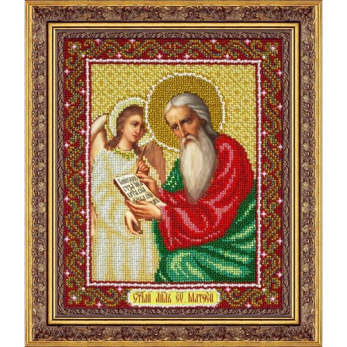Набор для вышивания бисером ПАУТИНКА арт.Б-1051 Св.Апостол Еванг.Матфей 25х20 см