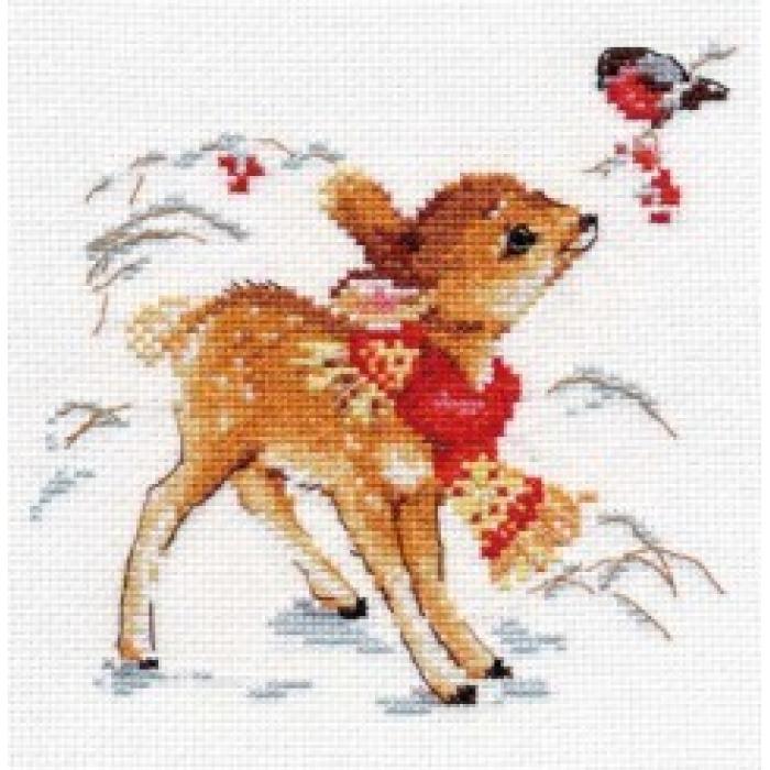 Набор для вышивания АЛИСА арт.0-100 Олененок 14х14 см