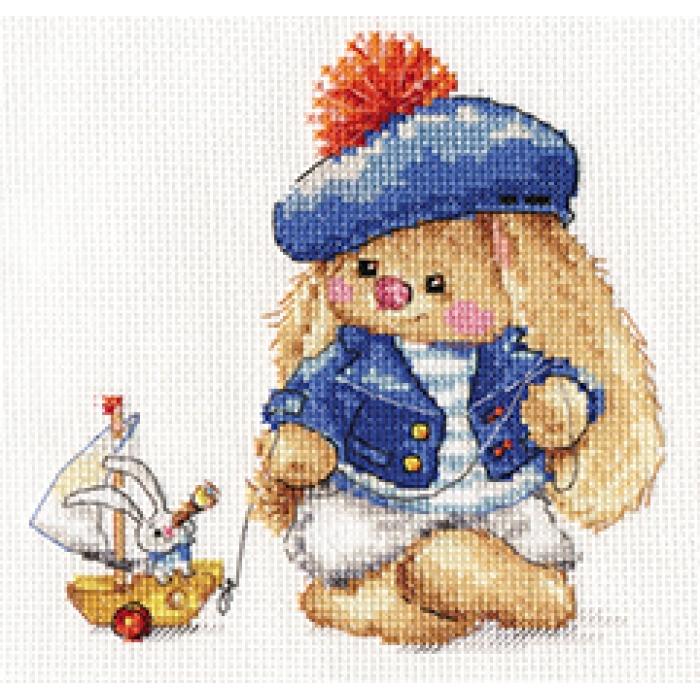 Набор для вышивания АЛИСА арт.0-180 Зайка Ми. Моряк 14х14 см