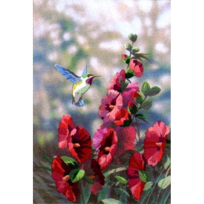 Набор для вышивания DIMENSIONS арт.DMS-11127 Колибри в цветах 28х41 см