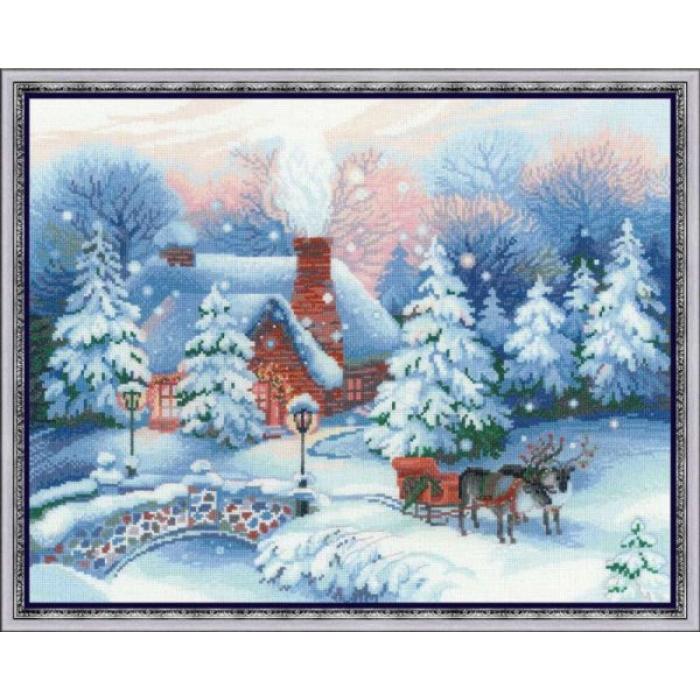 Набор для вышивания РИОЛИС арт.100/041 Накануне Рождества 45х35 см