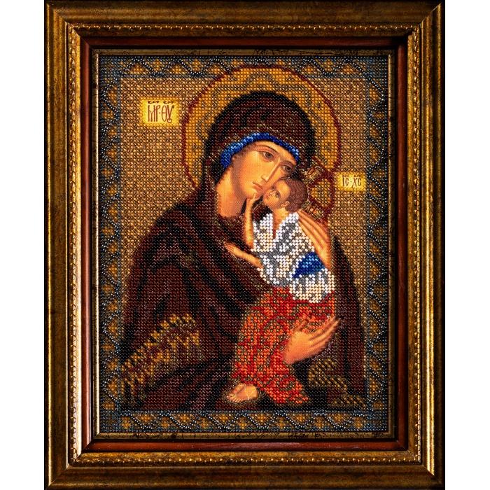 Набор для вышивания бисером КРОШЕ арт. В-152 Ярославская Богородица 20x25 см