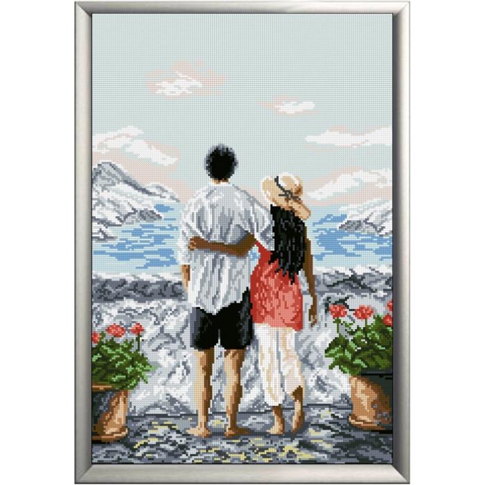 Набор для вышивания мулине КРАСА И ТВОРЧЕСТВО арт.20217 Райский уголок м2 27,3х40,7 см