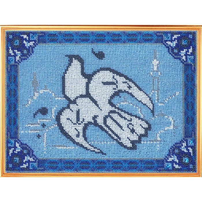 Набор для вышивания ВЫШИВАЛЬНАЯ МОЗАИКА арт. 112ГР Голубь Мира 20х27,5см