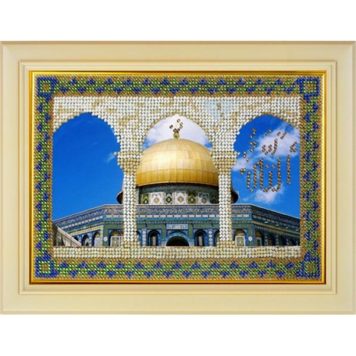 Набор для вышивания ВЫШИВАЛЬНАЯ МОЗАИКА арт. 101РВМ Мечети мира. Мечеть Купол скалы в Иерусалиме 13,5х20 см