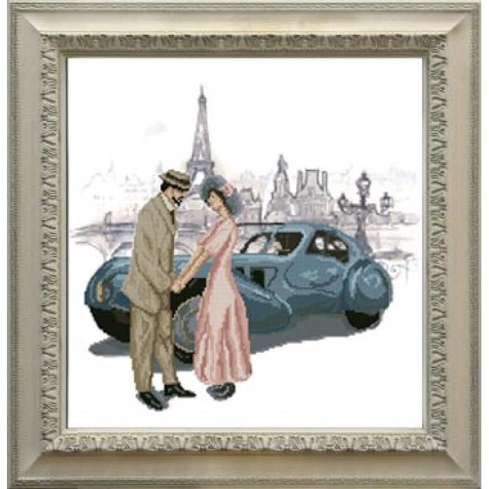 Набор для вышивания мулине КРАСА И ТВОРЧЕСТВО арт.30714 Встреча в Париже 35,4х37 см