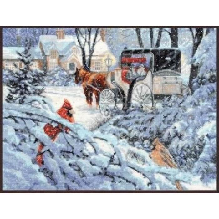 Набор для вышивания ПАЛИТРА арт.07.007 Краски зимы 37х27 см