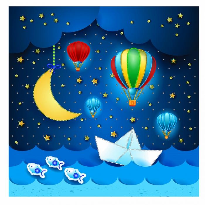 Набор для вышивания бисером МАТРЕНИН ПОСАД арт.41х41 - 0180/Б Путешествия во сне