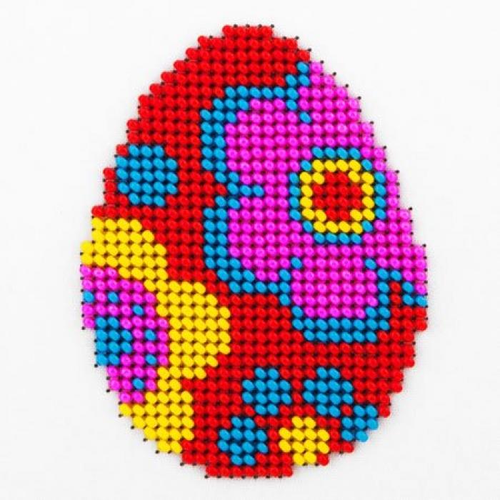 Набор для вышивания бисером LOUISE арт. L455 Пасхальное яйцо 11х11 см