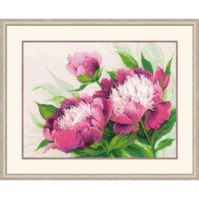 Набор для вышивания РИОЛИС арт.100/039 Розовые пионы 40х30 см
