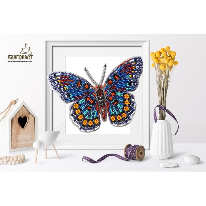 Набор для вышивки бисером 3-D БЛАГОВЕСТ арт.Б-024 Бабочка Limenitis Astyanax 13,5х10 см