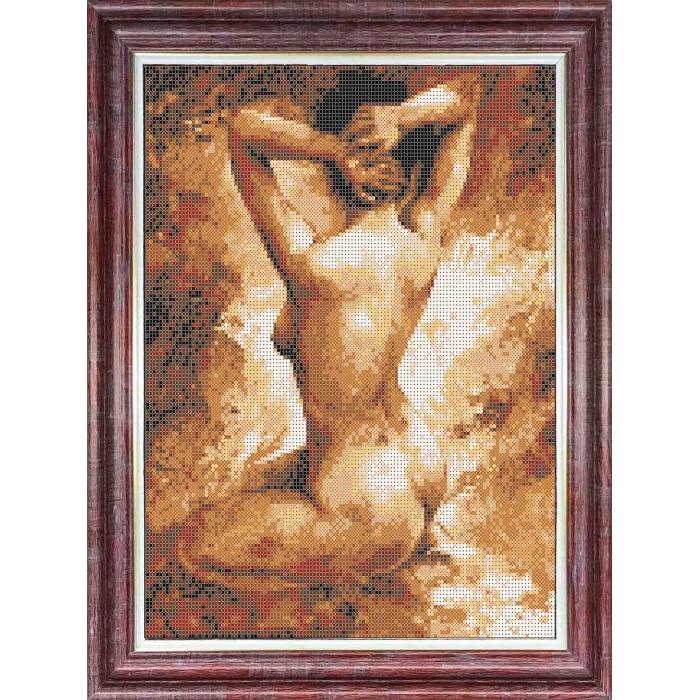 Канва с нанесенным рисунком КАРОЛИНКА арт. КК-055 Натурщица 23х30 см