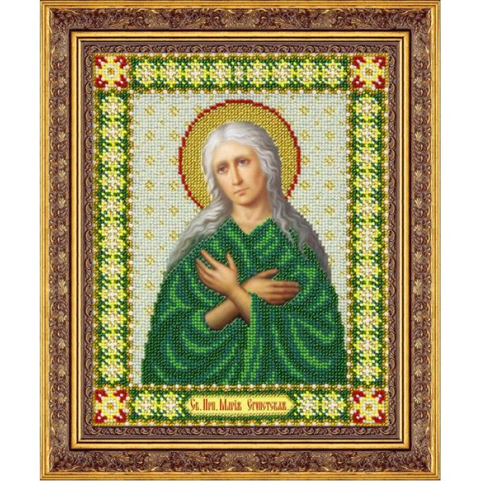 Набор для вышивания бисером ПАУТИНКА арт.Б-1058 Св.Мария Египетская 20х25 см