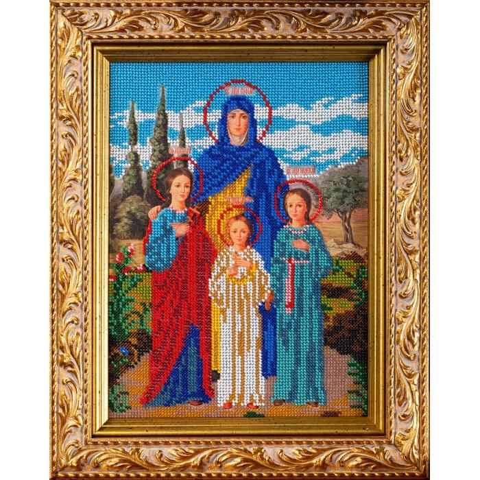Набор для вышивания бисером КРОШЕ арт. В-179 Вера, Надежда, Любовь 19x26 см