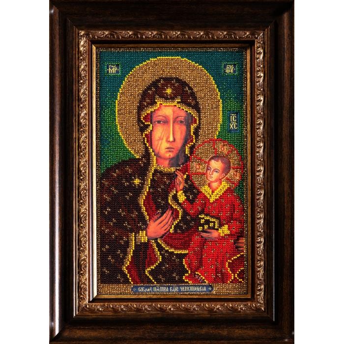 Набор для вышивания бисером КРОШЕ арт. В-194 Ченстоховская Богородица 19х27 см