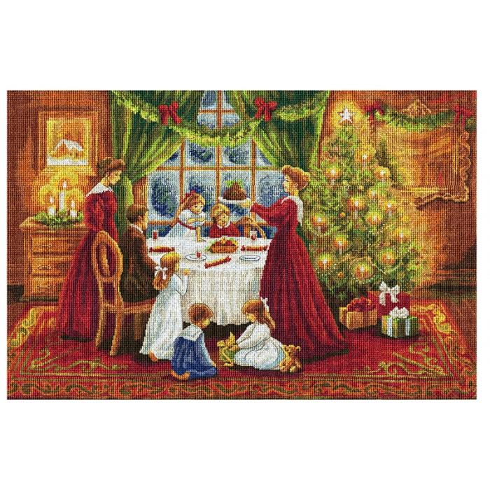 Набор для вышивания мулине НИТЕКС арт.0092 Рождество 72,5х48 см