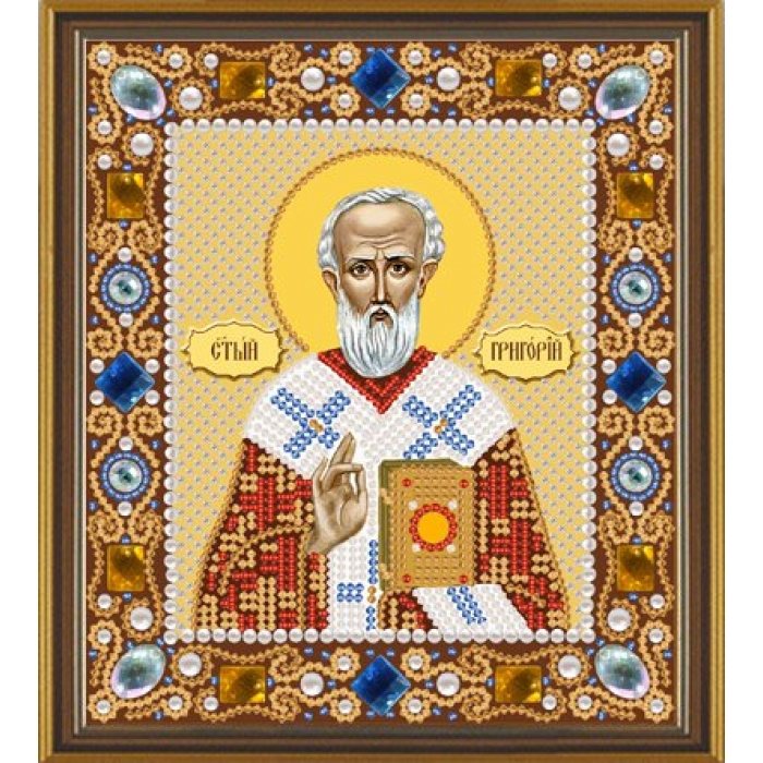 Набор для вышивания бисером НОВА СЛОБОДА арт.Д6113 Св.Григорий Богослов 13х15 см