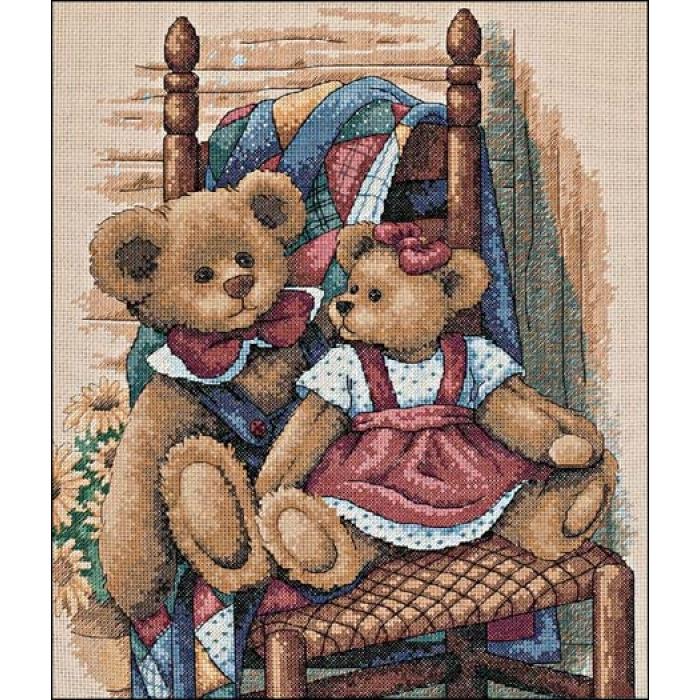 """Набор для вышивания Classic Design арт.4366 """"Мишки на стуле"""" 29х35 см"""