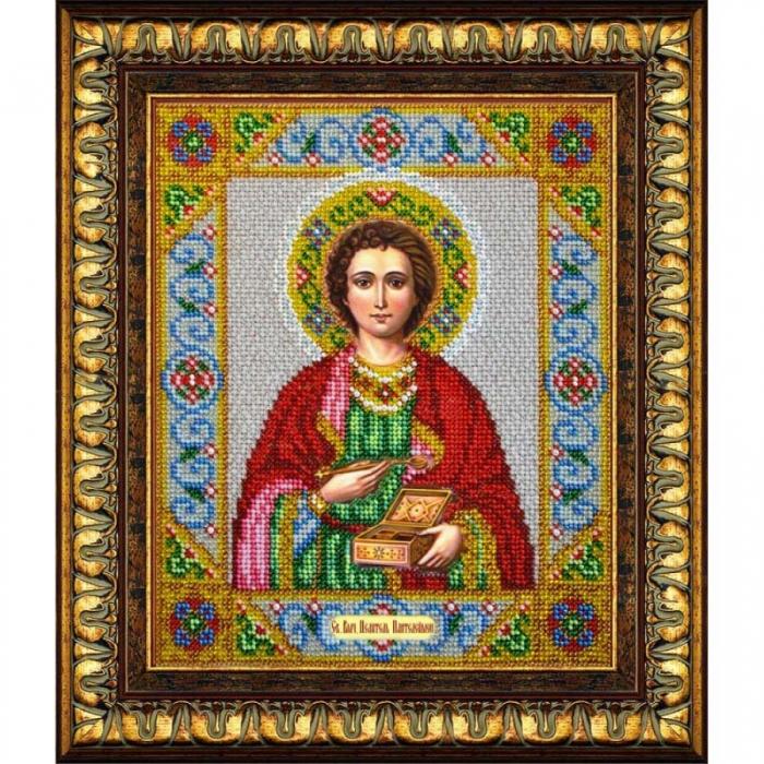 Набор для вышивания бисером ПАУТИНКА арт.Б-1018 Св.Целитель Пантелеймон 20х24,5 см
