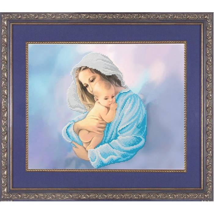 Набор для вышивания бисером СЛАВЯНОЧКА арт. НК-3029 Мой малыш 35,5х28,5 см