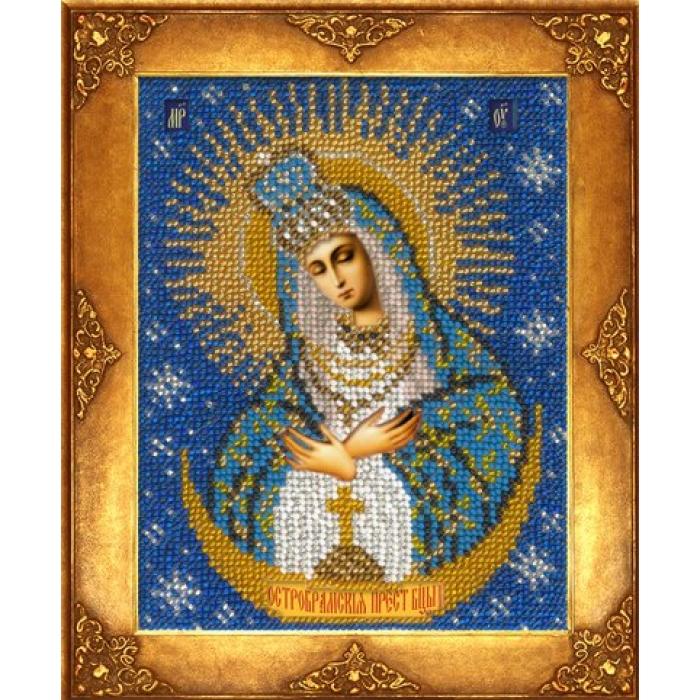 Набор для вышивания бисером РУССКАЯ ИСКУСНИЦА арт.220 БИ Богородица Остробрамская 12,5х16,3 см