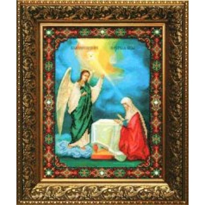 Набор для вышивания бисером ЧАРИВНА МИТЬ арт.Б-1028 Благовещение Пресвятой Богородицы СР 27,3х36,2 см