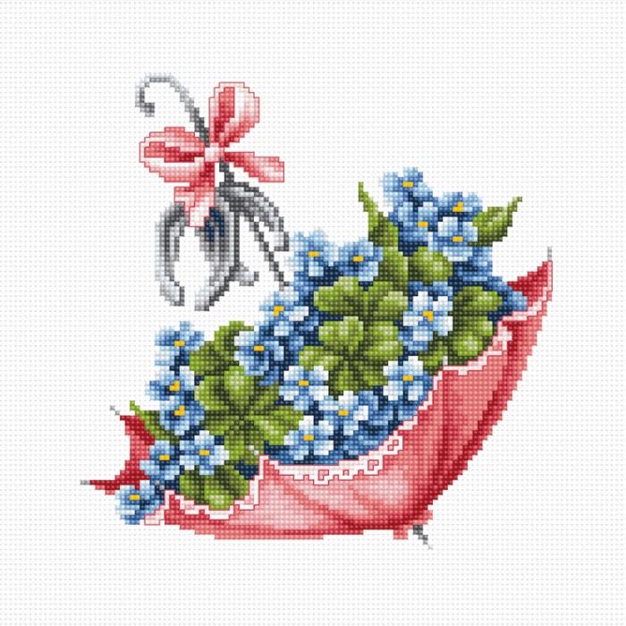 Набор для вышивания LUCA-S арт. B109 Зонтик 17,5х17,5 см