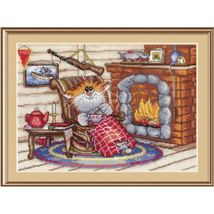 Набор для вышивания МП СТУДИЯ арт.НВ-521 Уютный вечер 17х24 см