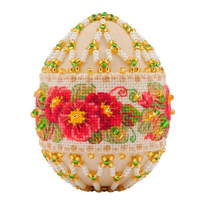 Набор для бисероплетения РИОЛИС арт.В195 Пасхальное яйцо Примула 6,5х5 см