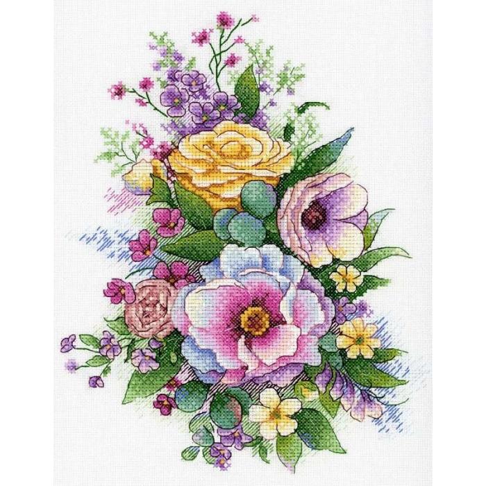 Набор для вышивания МП СТУДИЯ арт.А-040 Лиловая Весна 25х20 см