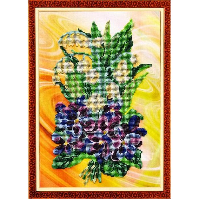 Набор для вышивания бисером КРОШЕ арт. В-222 Весенний салют 27x35 см