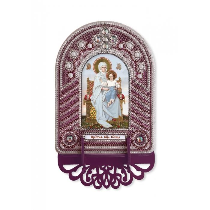 Набор для вышивания бисером НОВА СЛОБОДА арт.ВК1002 Пресвятая Богородица Владычица 10х13 см