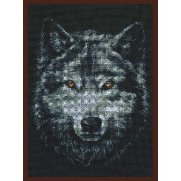 Набор для вышивания ПАЛИТРА арт.02.001 Взгляд волка 21х27 см