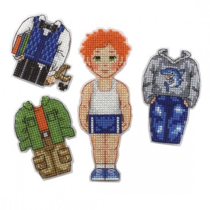 Набор для вышивания игрушки на пластиковой канве ДИВНАЯ ВИШНЯ арт. ИД-005 Лёва 5х11,5 см